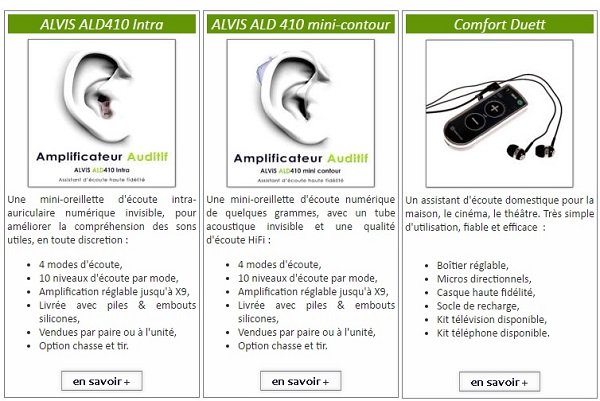 amplificateur auditif