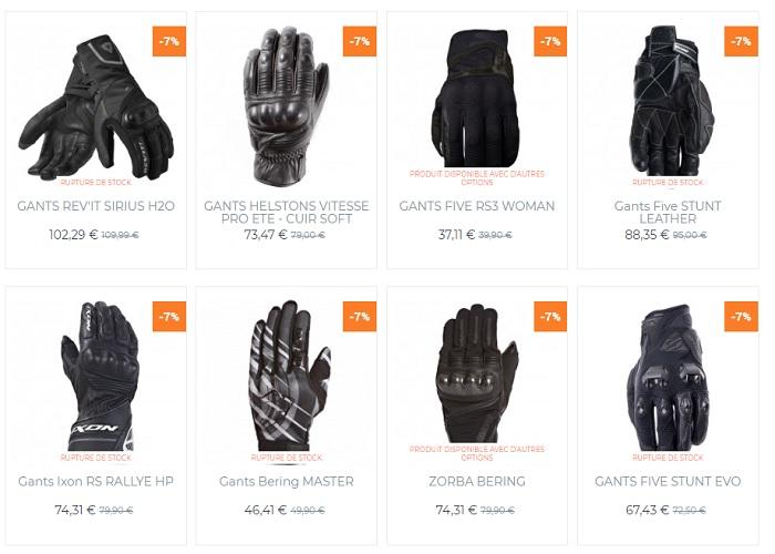 gants moto cuir